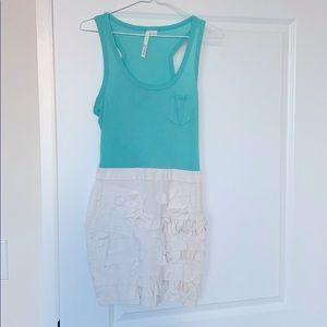 Aryn K Two tone dress